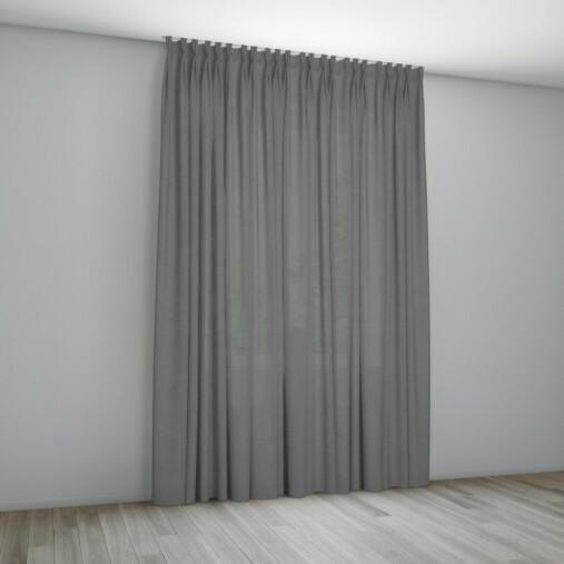 Overgordijn Monaco Aluminium - plooigordijn met vlinderplooi