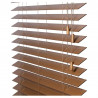 Detail bediening houten jaloezieën 70mm abachi shutterlook