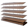 Detail onderlijst houten jaloezieën 70mm abachi shutterlook