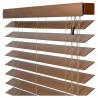 Detail voorlijst houten jaloezieën 70mm abachi shutterlook