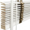 Houten jaloezieën 25mm wit met ladderband