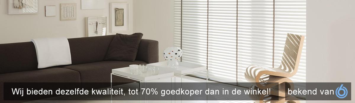 Bekend Jaloezieën op maat | Laagste prijs | Doehetbudget.nl ® GN37